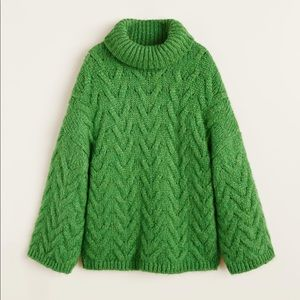 NWT Mango Green Turtleneck Sweater